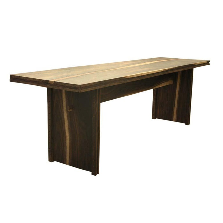 Contemporary Early 2000 Impressive Wooden Dining Table Italian Design by Anacleto Spazzapan For Sale