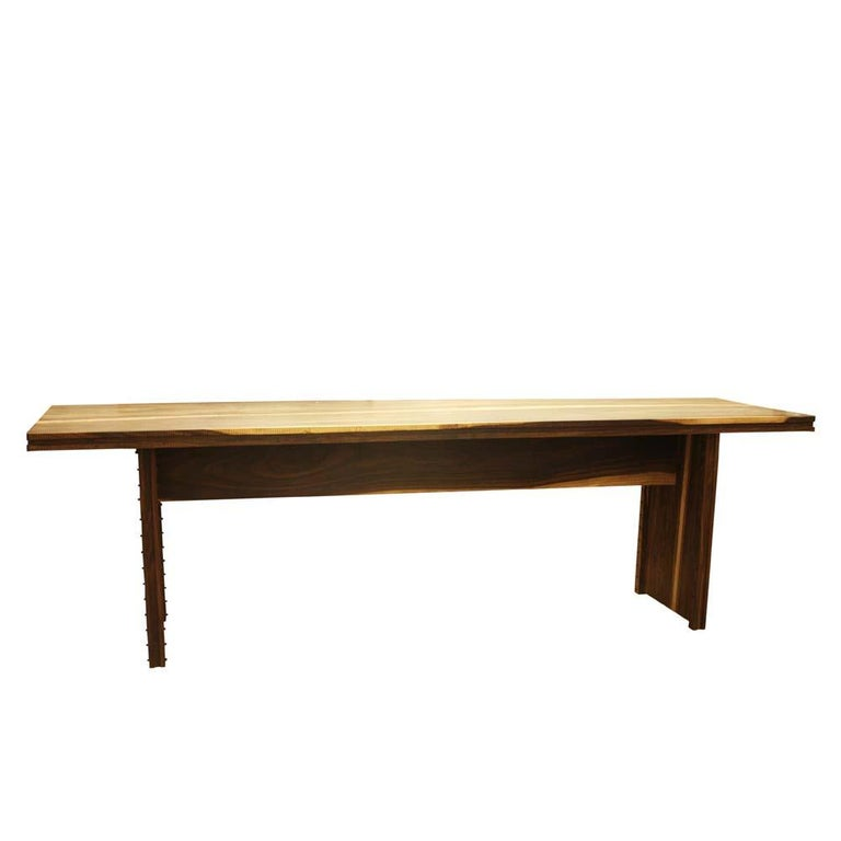 Early 2000 Impressive Wooden Dining Table Italian Design by Anacleto Spazzapan For Sale 1