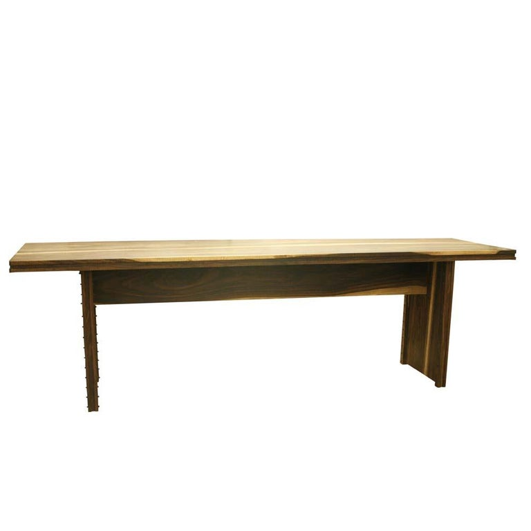Early 2000 Impressive Wooden Dining Table Italian Design by Anacleto Spazzapan For Sale 2