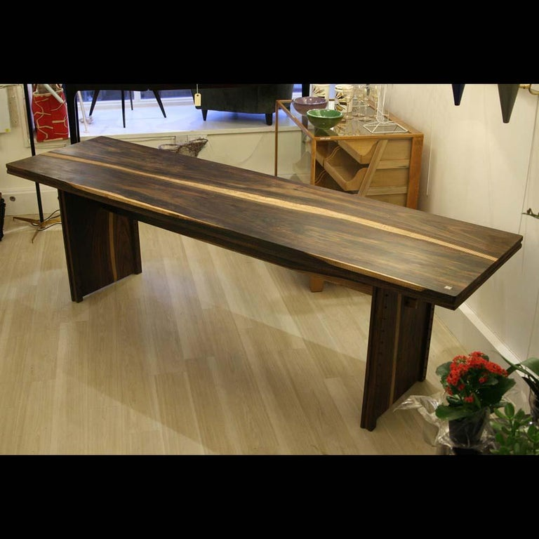 Early 2000 Impressive Wooden Dining Table Italian Design by Anacleto Spazzapan For Sale 3