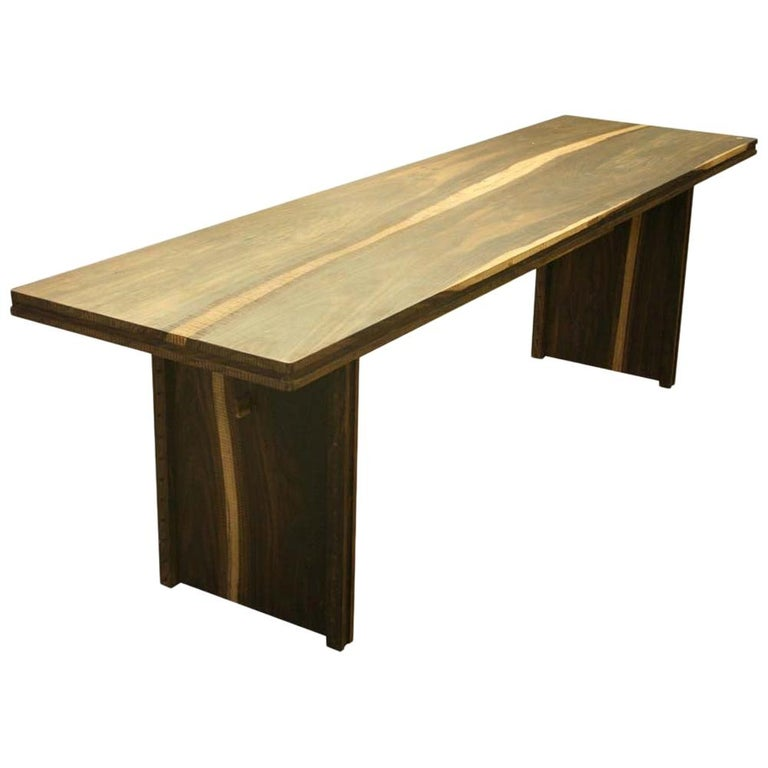 Early 2000 Impressive Wooden Dining Table Italian Design by Anacleto Spazzapan For Sale