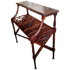 Early 20th Century American Nouveau Magazine Rack Console