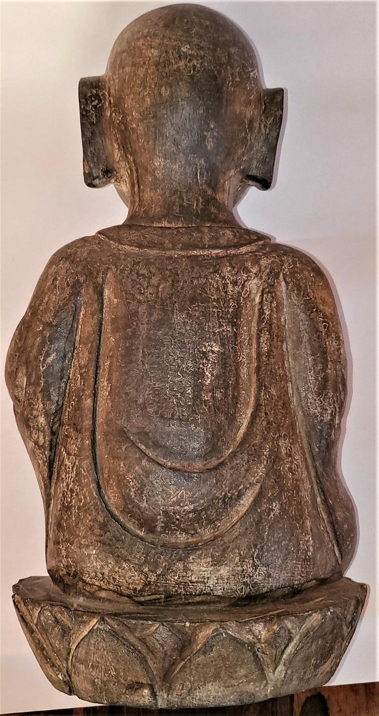 Early 20th Century Japanese Stone Carved Buddha For Sale 6