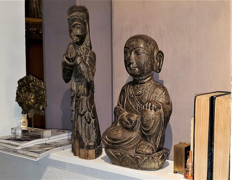 Early 20th Century Japanese Stone Carved Buddha For Sale 10