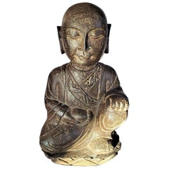 Early 20th Century Japanese Stone Carved Buddha
