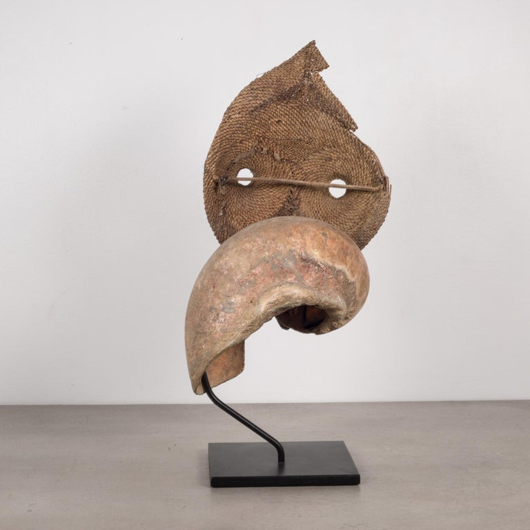 Papua New Guinean Early 20th Century, Custom Mounted Papua New Guinea Talipun Mask For Sale