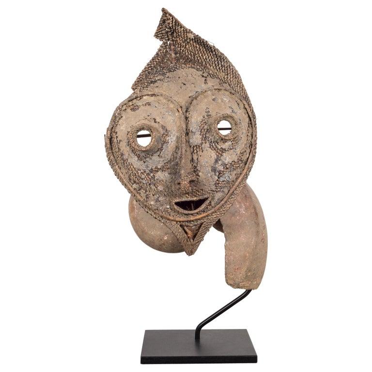 Early 20th Century, Custom Mounted Papua New Guinea Talipun Mask For Sale