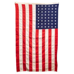 Early 20th C. American Flag with 48 Stars, c.1940-1950