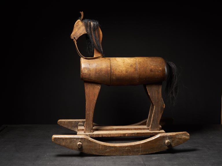 Early 20th Century, Antique Wooden Rocking Horse For Sale 7