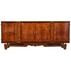 Early 20th Century Art Deco Rosewood Marquetry Sideboard