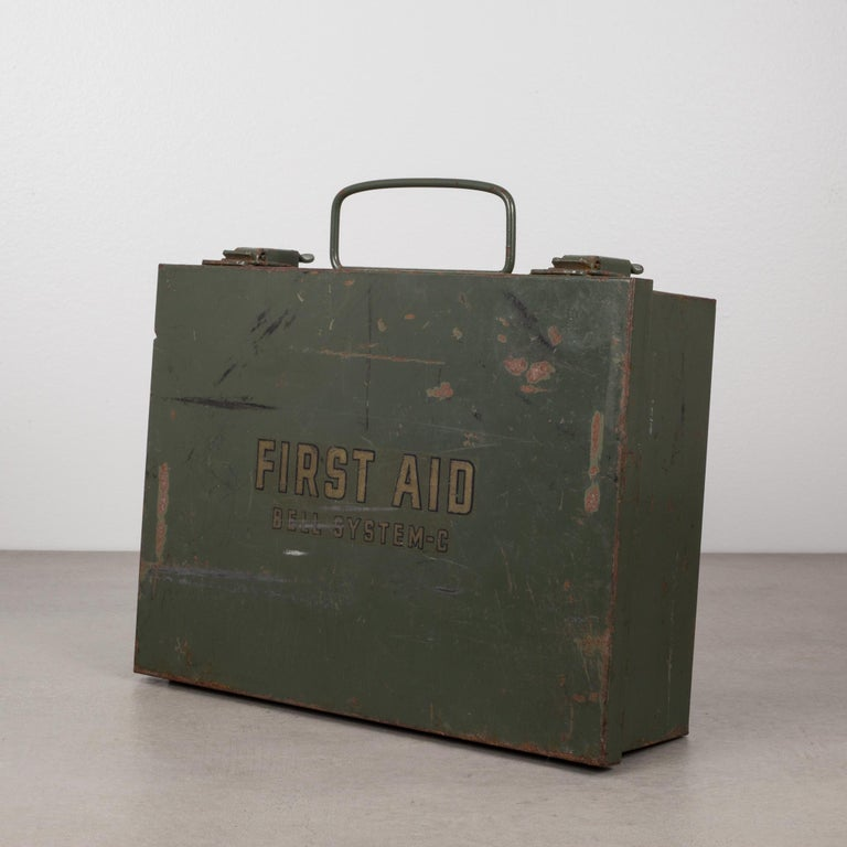 Early 20th C Bell System C First Aid Kit Circa 1940s At 1stdibs