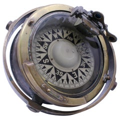 Early 20th Century Bronze Gimballed Compass by F.Smith & Sons