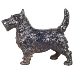 Early 20th C. Cast Iron Scottish Terrier Doorstop by Hubley, c.1910-1940