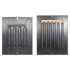 Early 20th C Double Sided Wooden Foundry Molds C 1900-Price Per Piece