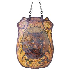 Fairground Art Switchback Shield by Albert Howell Tiger Folk Art