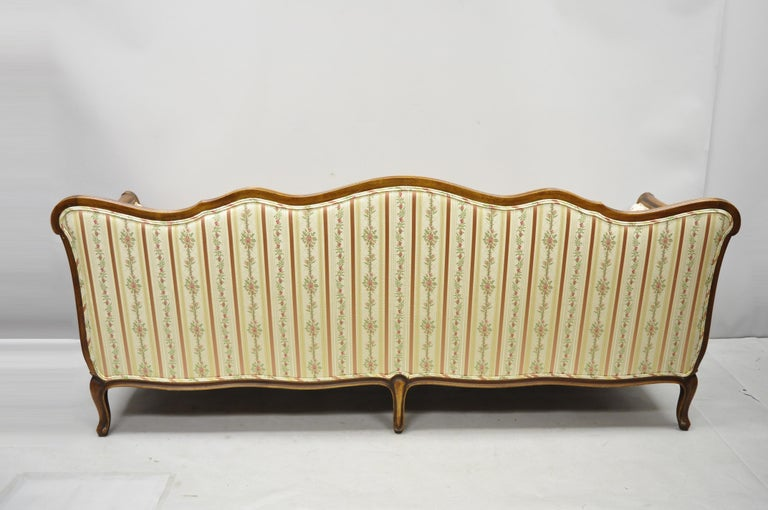 French Louis XV Provincial Style Sofa with Serpentine Carved Back For Sale 4
