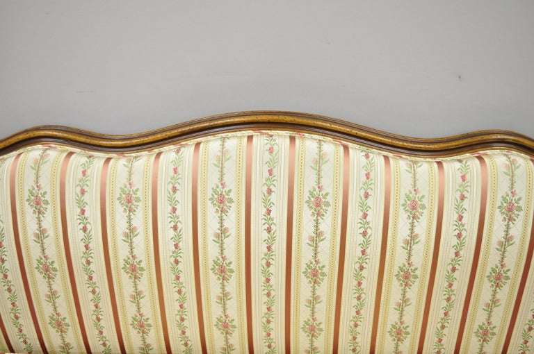 French Louis XV Provincial Style Sofa with Serpentine Carved Back For Sale 1