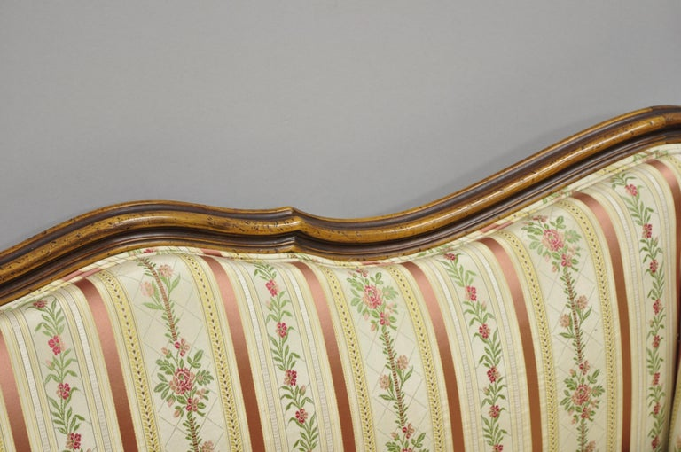 French Louis XV Provincial Style Sofa with Serpentine Carved Back For Sale 2