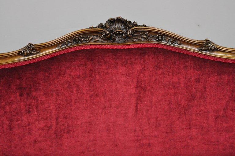 Early 20th Century French Louis XV Style Shell Carved Mahogany Sofa Settee For Sale 8