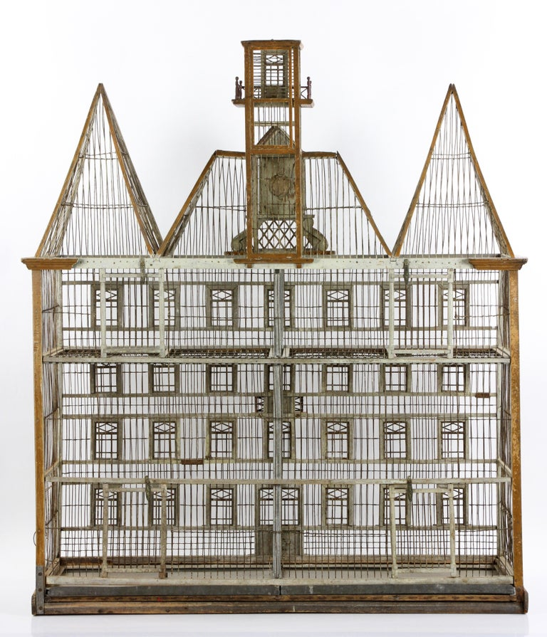 European French Bird House Two-Level For Sale