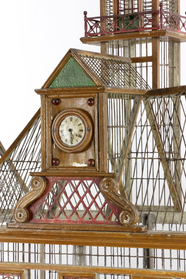 20th Century French Bird House Two-Level For Sale