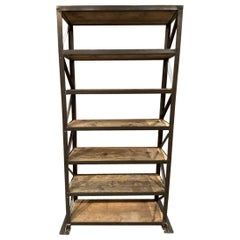 Early 20th C French Warehouse Shelving Unit
