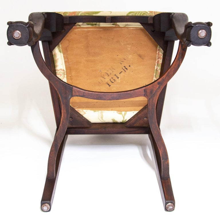 Early 20th C George II Style Carved Walnut Chair by Brower For Sale 5