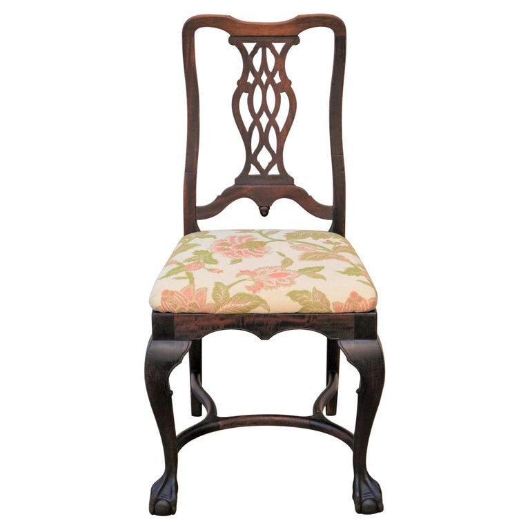 Early 20th C George II Style Carved Walnut Chair by Brower For Sale 7