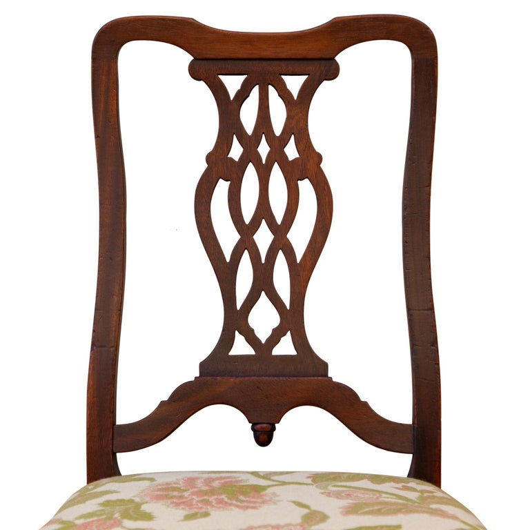 North American Early 20th C George II Style Carved Walnut Chair by Brower For Sale