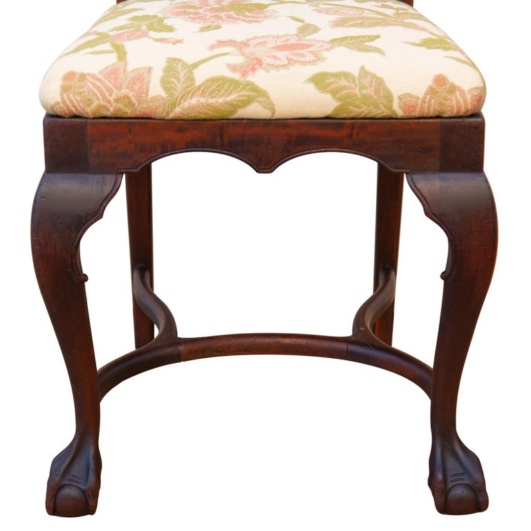 Early 20th C George II Style Carved Walnut Chair by Brower In Good Condition For Sale In Baltimore, MD