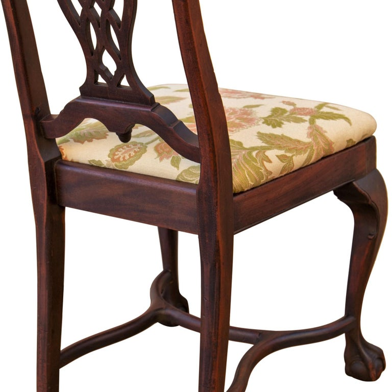 20th Century Early 20th C George II Style Carved Walnut Chair by Brower For Sale