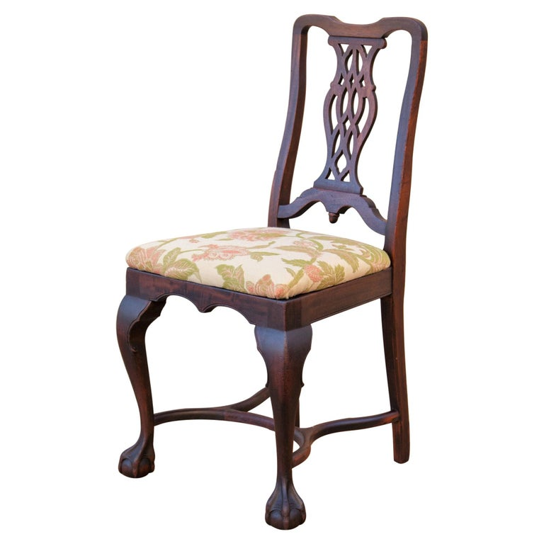Early 20th C George II Style Carved Walnut Chair by Brower For Sale 1
