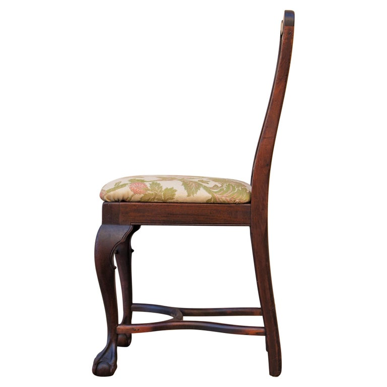 Early 20th C George II Style Carved Walnut Chair by Brower For Sale 2