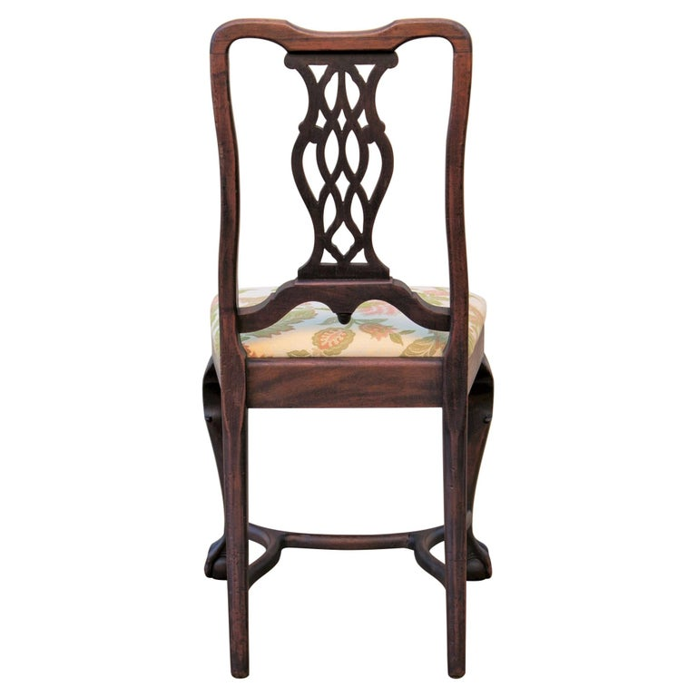 Early 20th C George II Style Carved Walnut Chair by Brower For Sale 3