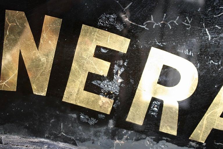 Gilt Verre Églomisé, Cheap Funerals Trade Shop Sign Oliver Twist For Sale 8