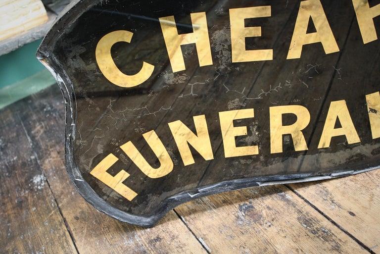 Gilt Verre Églomisé, Cheap Funerals Trade Shop Sign Oliver Twist For Sale 12