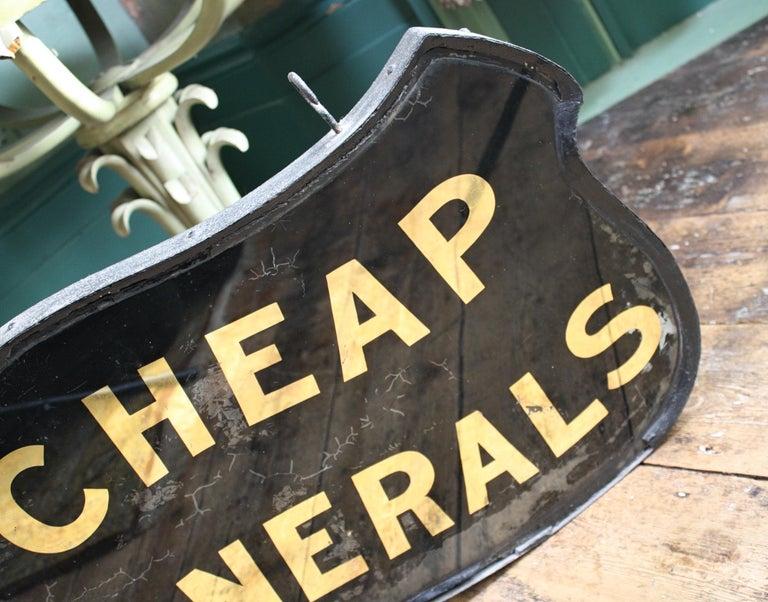 Gilt Verre Églomisé, Cheap Funerals Trade Shop Sign Oliver Twist For Sale 13