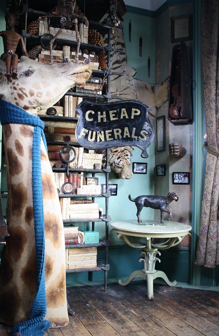 Gilt Verre Églomisé, Cheap Funerals Trade Shop Sign Oliver Twist For Sale 2