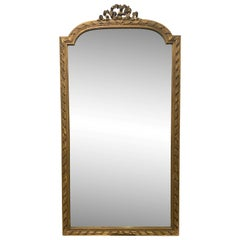 Early 20th C. Gilted Wood Mirror Louis XVI Style from France, Over Mantel