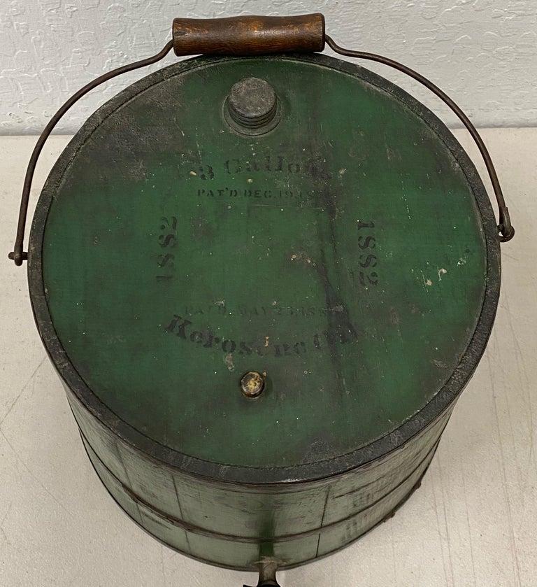 American Early 20th Century Green Kerosene Can For Sale