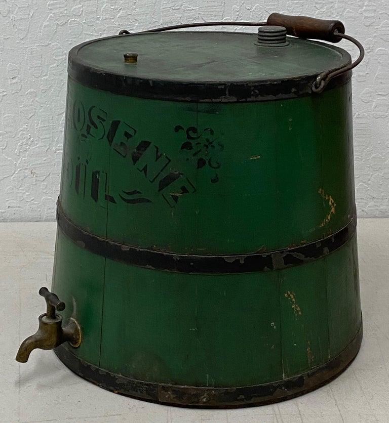 Metalwork Early 20th Century Green Kerosene Can For Sale
