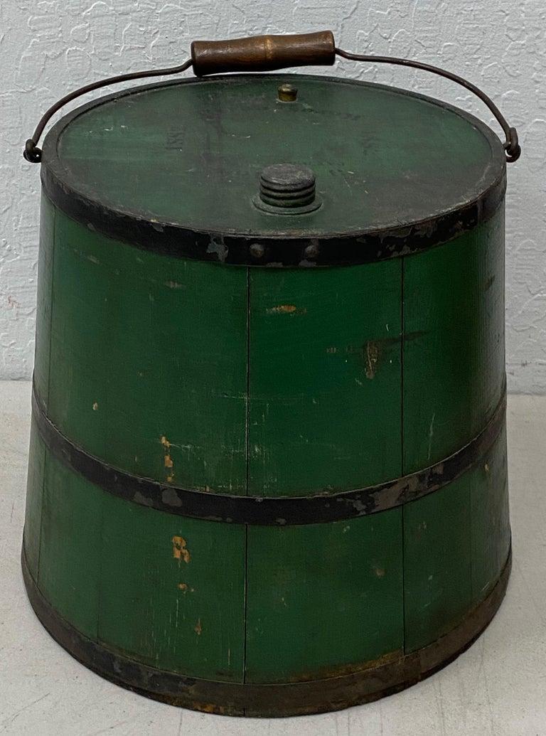 Wood Early 20th Century Green Kerosene Can For Sale