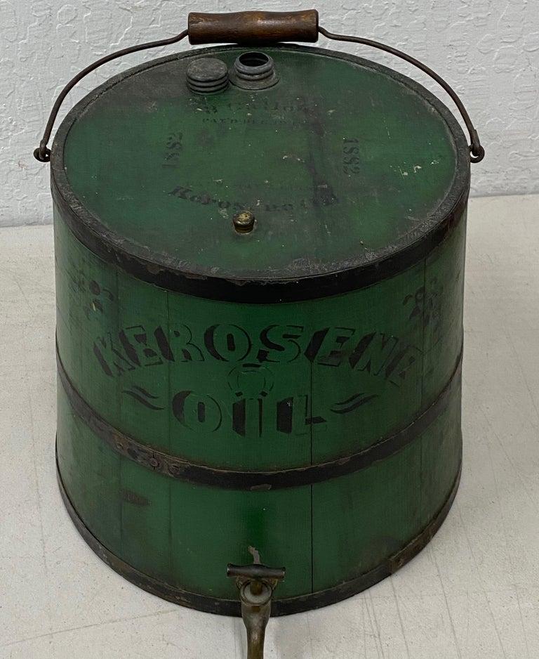 Early 20th Century Green Kerosene Can For Sale 1