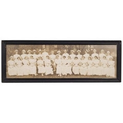 Early 20th c. Nurses and Doctors Panoramic Photo c.1900-1910