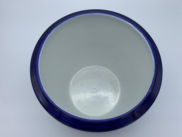 """Early 20th Century Minton Blue and White """"Blue Willow"""" Porcelain Cachepot For Sale 4"""
