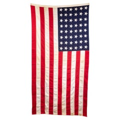 Early 20th C. Monumental American Flag with 48 Stars, c.1940-1950