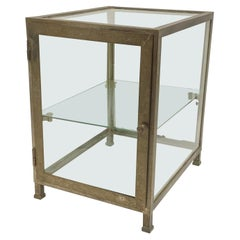 Early 20th C. Nickel Over Brass Counter Top Display Case from France