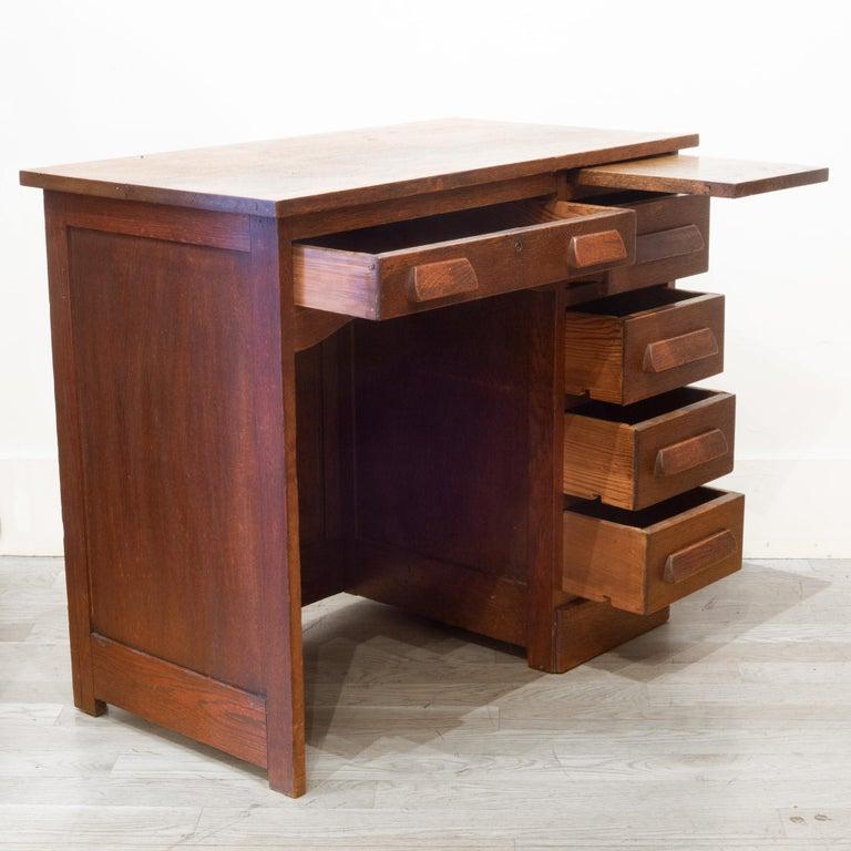 Industrial Early 20th c. Oak Children's Writing Desk, c.1940