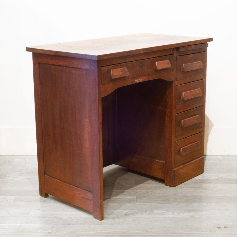 Early 20th c. Oak Children's Writing Desk, c.1940 In Good Condition In San Francisco, CA