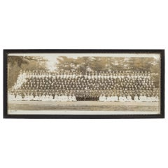 Early 20th Century Officers and Nurses Panoramic Photo, circa 1918